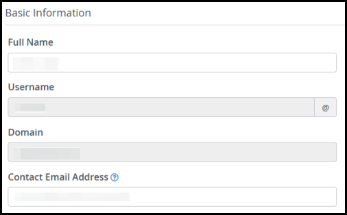 ftp access user information cpanel
