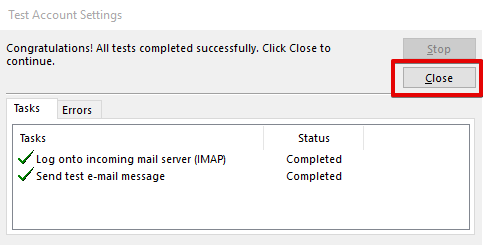 setting up outlook 2013 to check email step 9