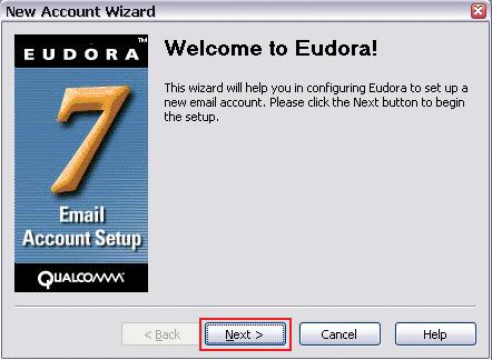 set up eudora step 1