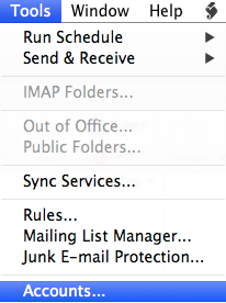 setting up outlook 2011 for mac step 2