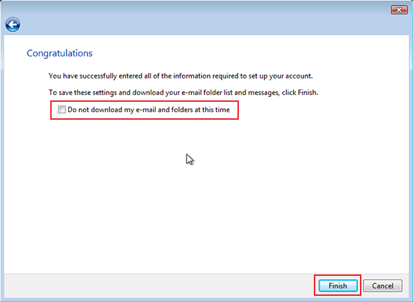 setting up vista to check email step 9