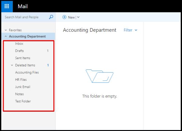 share mailbox folder OWA