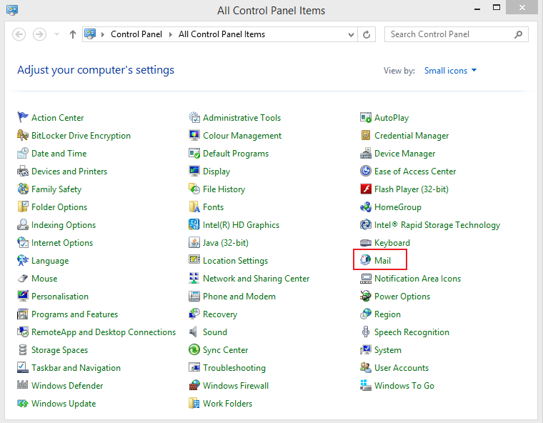Set up Email Exchange using Outlook 2010 instructions step 1