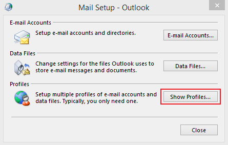 Set up Email Exchange using Outlook 2010 instructions step 2