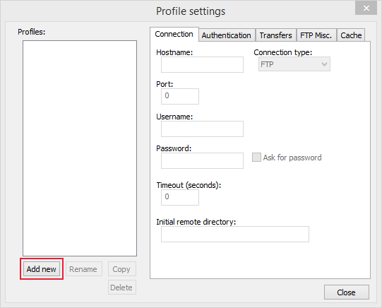 using notepad to upload and adding new profiles