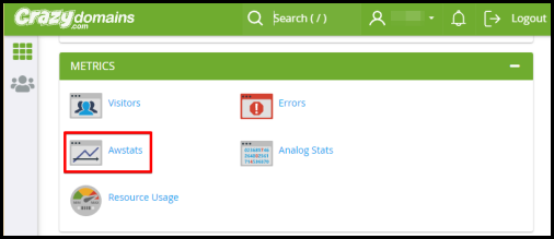 awstats option in cpanel